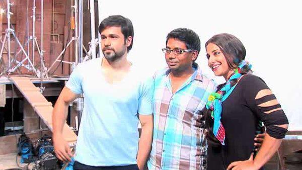 Emraan,Rajkumar And Vidya Posed For Camera On the Sets Of Ghanchakkar