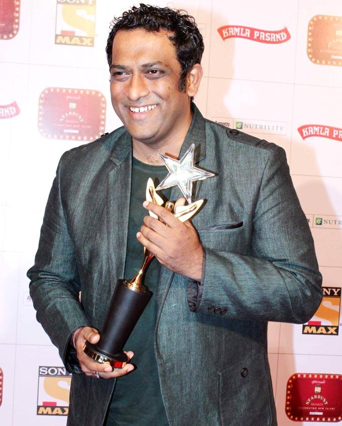 Anurag With The Stardust Award Trophy At Stardust Awards 2013