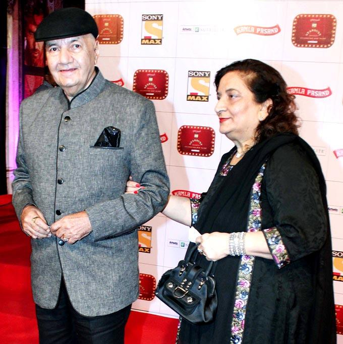 Prem With Wife Uma Spotted At Stardust Awards 2013