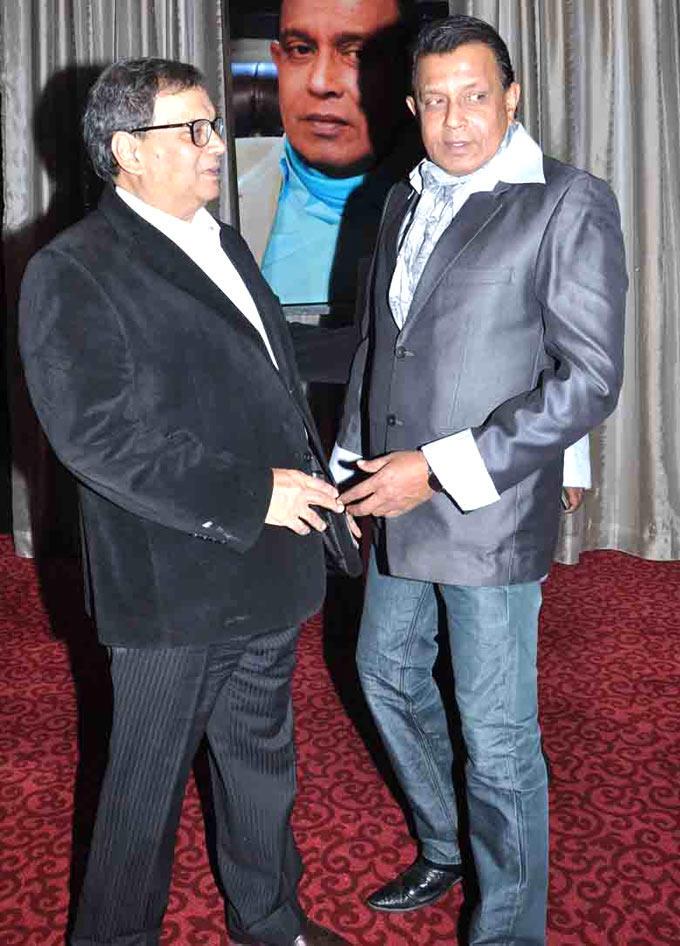 Subhash With Mithun Posed At Subhash Ghai Birthday Bash