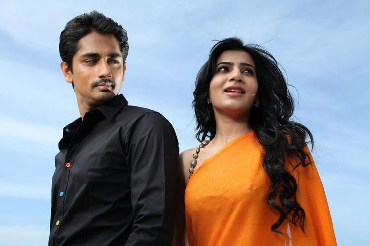 Siddharth And Samantha Glamorous Look Photo From Movie Jabardasth