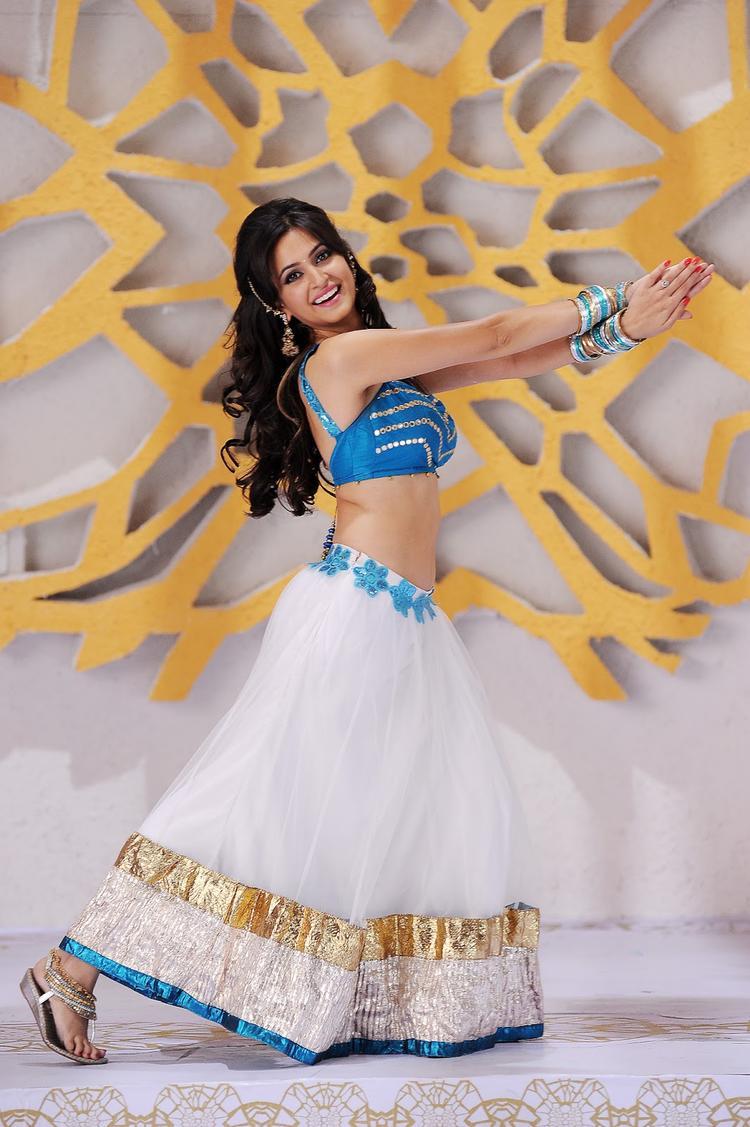 Kriti Kharbanda Dancing Pose Still From Ongole Githa Movie