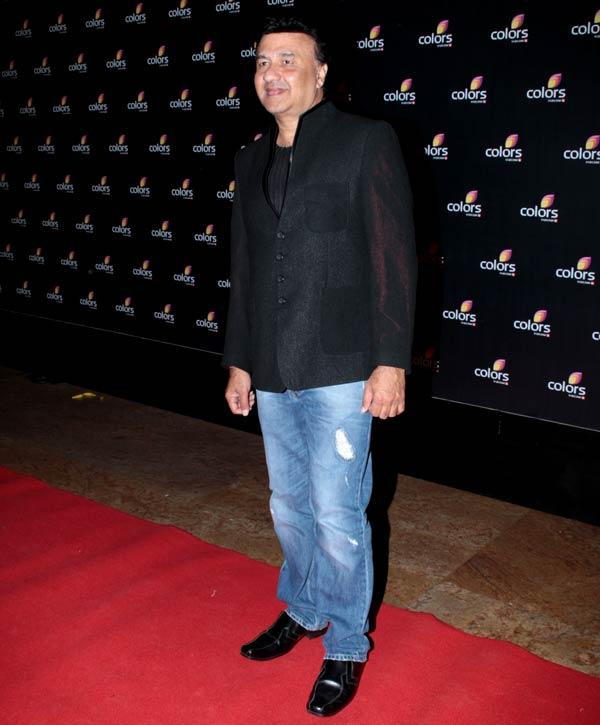 Anu Malik Smiling Pose In Red Carpet At Colors 4th Year Celebration Party