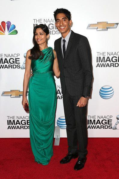 Freida Pinto And Dev Patel Posed For Camera In Red Carpet At The 44th NAACP Image Awards