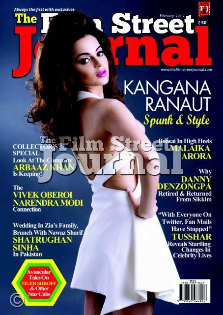 Kangana Sexy Look On The Cover Of The Film Street Journal February 2013 Edition