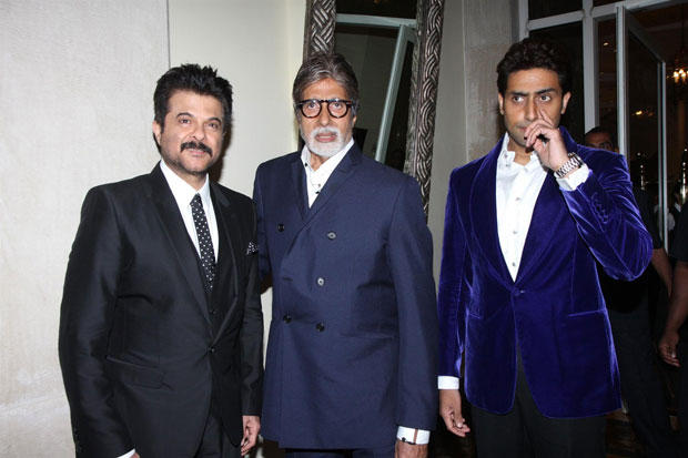 Amitabh,Anil And Abhishek Posed For Camera At The Hindustan Times Style Award 2013