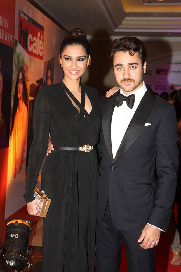 Imran And Sonam Both Are In Black Dress At The Hindustan Times Style Award 2013