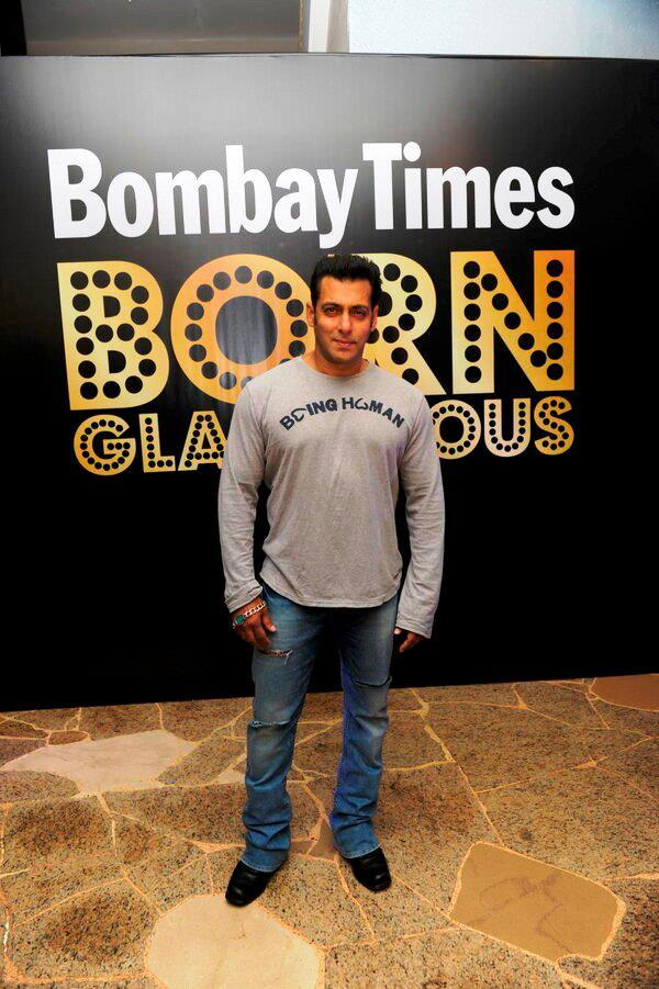 Handsome Salman Khan Strikes A Pose At Bombay Times 18th Anniversary Bash 2013