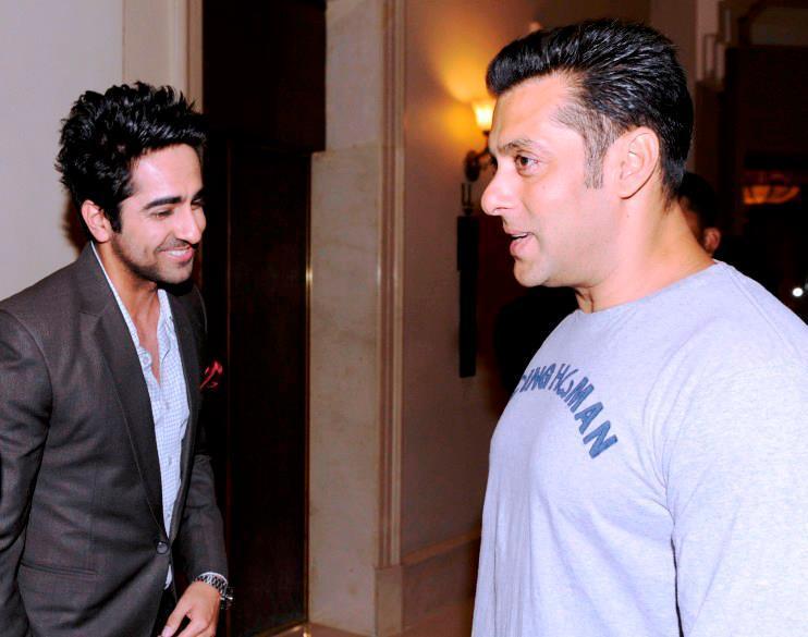 Salman Khan And Ayushmann Khurrana Nice Cool Look At Bombay Times 18th Anniversary Bash 2013