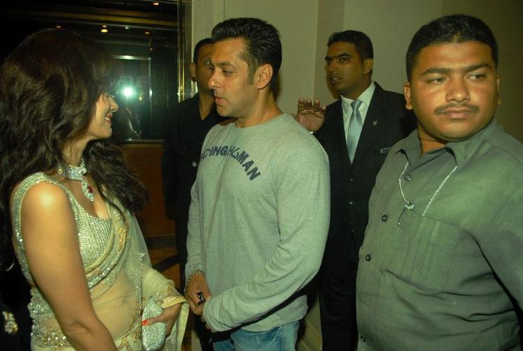 Salman Khan Spotted At Bombay Times 18th Anniversary Bash 2013