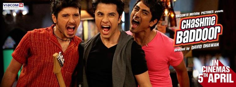 Ali,Siddharth And Divyendu Cool Rocking Still From Chashme Baddoor Movie