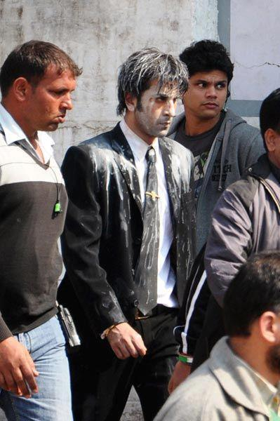 Ranbir Kapoor During On The Shooting Sets Of Besharam