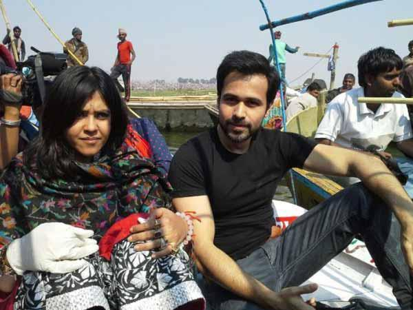 Ekta And Emraan Posed For Camera At Kumbh Mela In Allahabad