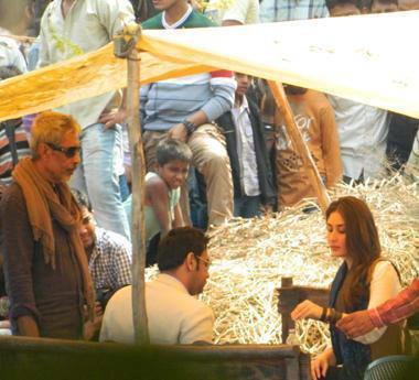 Kareena Kapoor Khan On The Sets Of Satyagraha At Bhopal