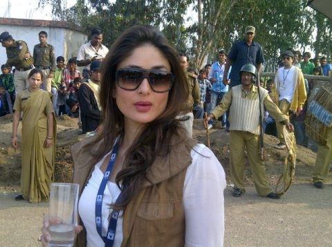 Kareena Kapoor Khan Stylish Look On The Sets Of Satyagraha At Bhopal
