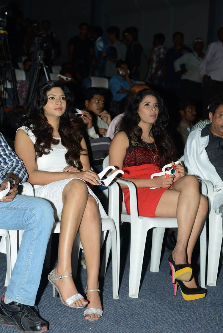 Lakshmi And Shravya Make An Appearance At Audio Launch Of Movie 143 Hyderabad