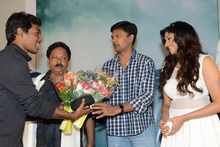 Lakshmi,Anand And Ramesh Snapped At Audio Launch Of Movie 143 Hyderabad