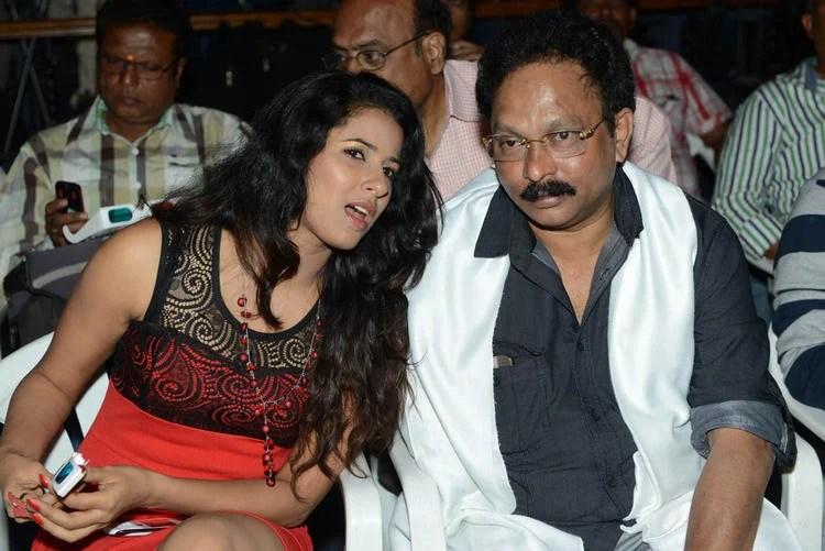 Shravya And Ramesh Conversation Photo Clicked At Audio Launch Of Movie 143 Hyderabad