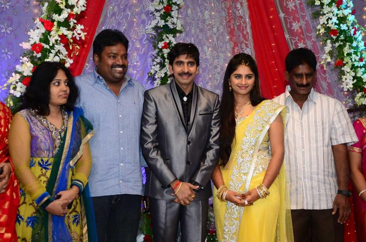Gopichand And Meher Smiling Photo Clicked At His Wedding Reception At Avasa Hotel