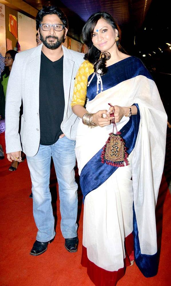 Arshad And Wife Maria Photo Clicked At Kai Po Che Premiere Show Event
