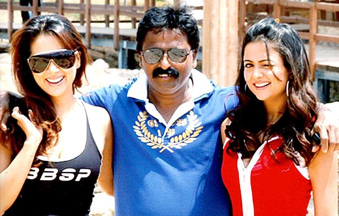 Yajness With Kim And Amrita Posed At An Event