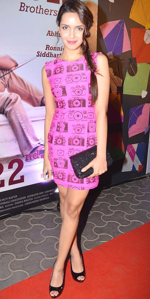 Shazahn Padamsee At Kai Po Che Premiere In Mumbai