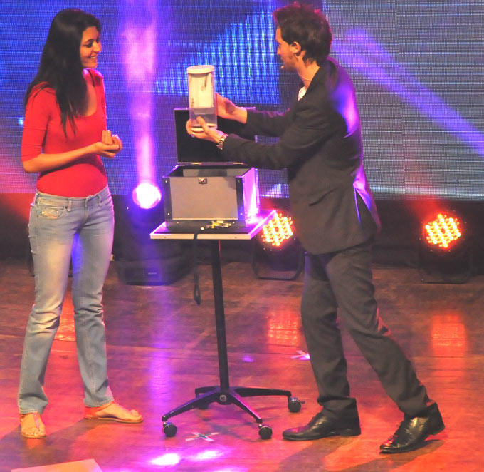 Shriya With Lior Photo Clicked At Lior Suchard Mind Read Show