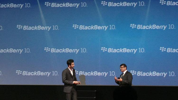 Ranbir Kapoor Make An Appearance At The Launch Of Blackberry Z10