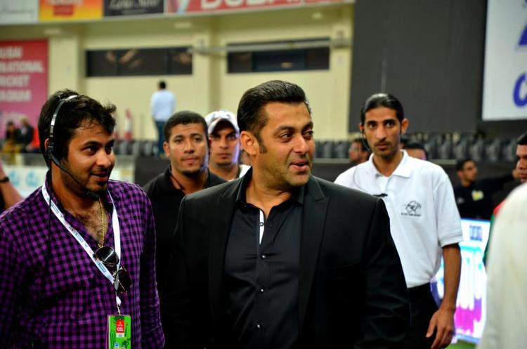 Salman Khan Arrived At CCL 3 Held In Dubai