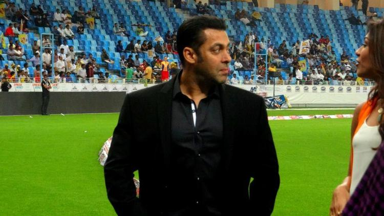 Salman Khan Photo Clicked In Field At CCL 3 Held In Dubai