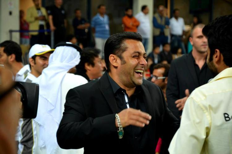 Salman Khan Smiling Photo Clicked At CCL 3 Held In Dubai