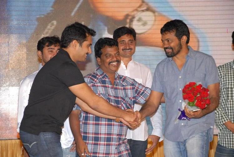 Uday Shakehand With Sukumar Photo Clicked At Jai Sriram Audio Launch Function