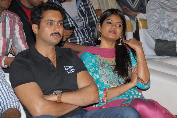 Uday With Wife Vishitha At Jai Sriram Audio Launch Function