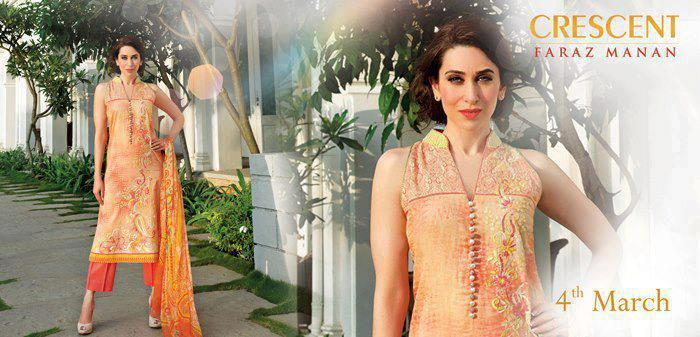 Karisma Kapoor Gorgeous Look Photo Shoot For Crescent Lawn 2013 Collection Ad