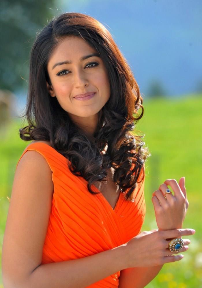 Ileana Superb Look Photo Still In Orange Dress