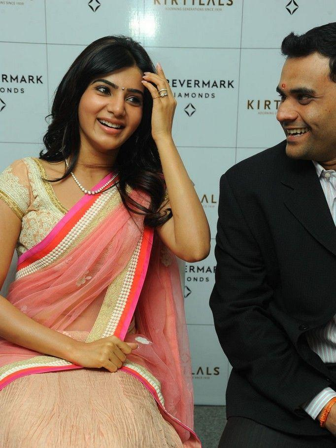 Samantha Hot Gorgeous Pic At The Launch Of Diamond Jewellery In Kirtilal Jewellers