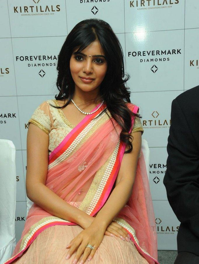 Samantha Looked Ravishing At The Launch Of Diamond Jewellery In Kirtilal Jewellers