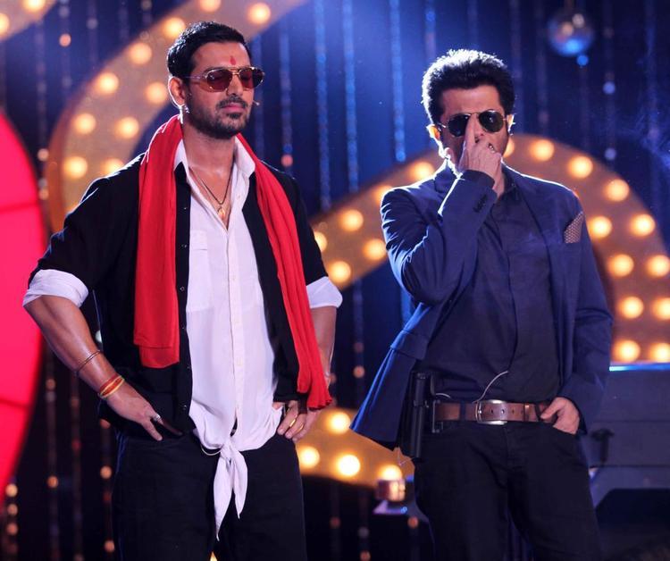John Abraham And Anil Kapoor At The Music Launch Of Shootout At Wadala