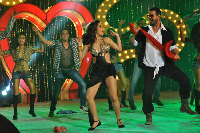 Sophie And John Rocked On The Stage At The Music Launch Of Shootout At Wadala