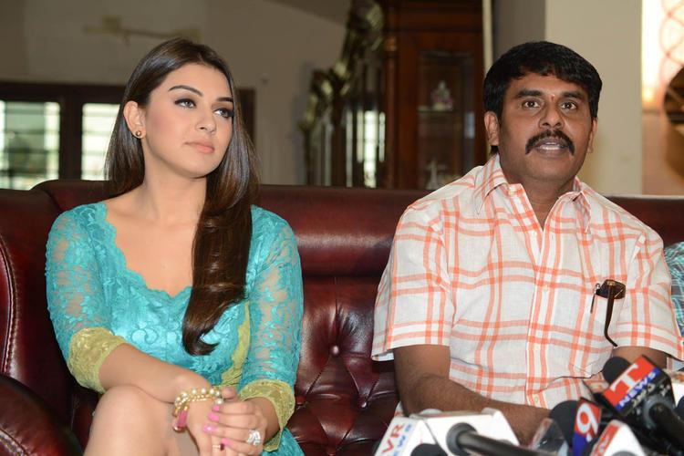 Hansika And Sundar C Make An Appearance At Something Something Movie Press Meet