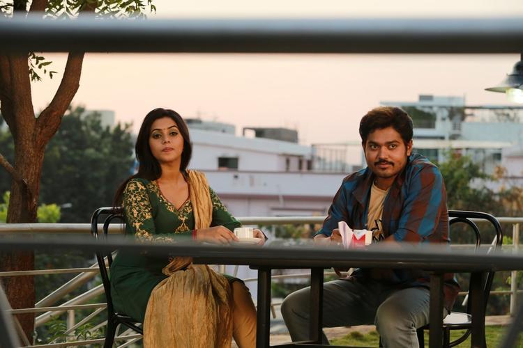 Poorna And Shakthi Cool Still From Telugulo Naaku Nachani Padam Prema Movie