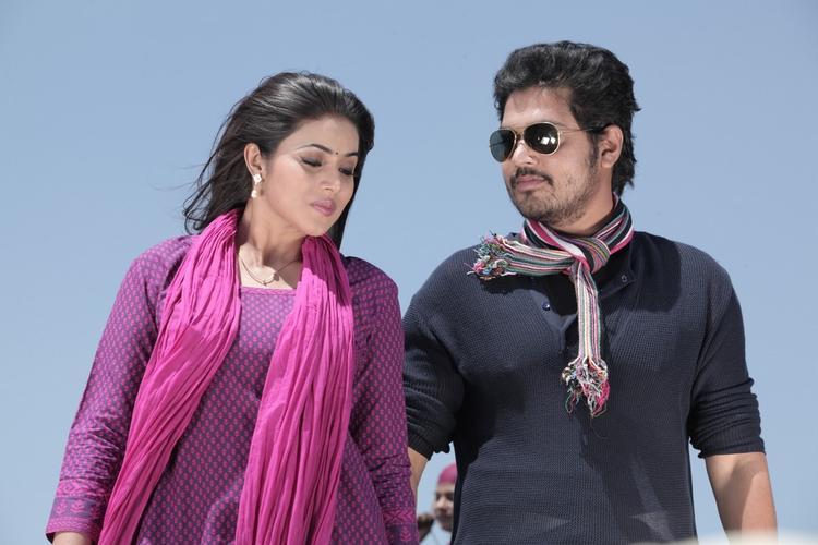 Poorna And Shakthi A Still From Telugulo Naaku Nachani Padam Prema Movie