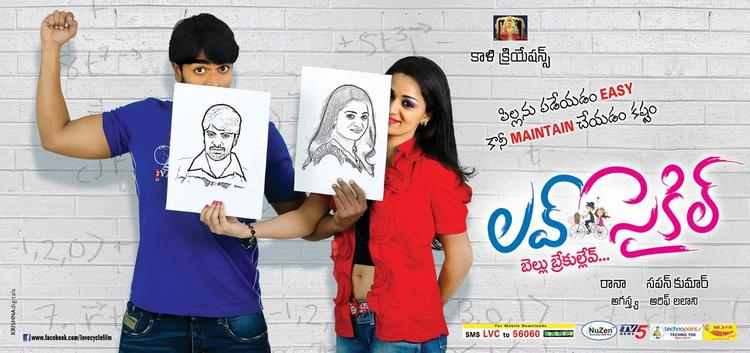 Srinivas And Reshma Latest Photo Poster Of Movie Love Cycle