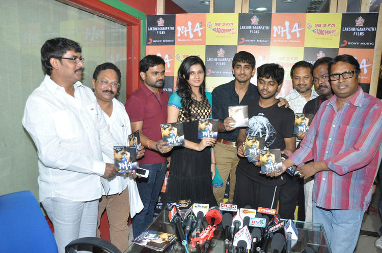 Maruti,Subramaniam,Ashritha,GV Prakash,Siddharth,RP And Gunasekhar Photo Clicked At Udhayam NH4 Movie Audio Launch