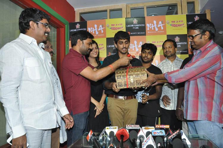 Siddharth,Subramaniam,Gunasekhar,Ashritha,Maruti And RP Patnaik Spotted At Udhayam NH4 Movie Audio Launch