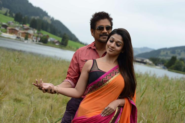 Nagarjuna And Nayantara Cute Look Photo Still From Movie Greeku Veerudu
