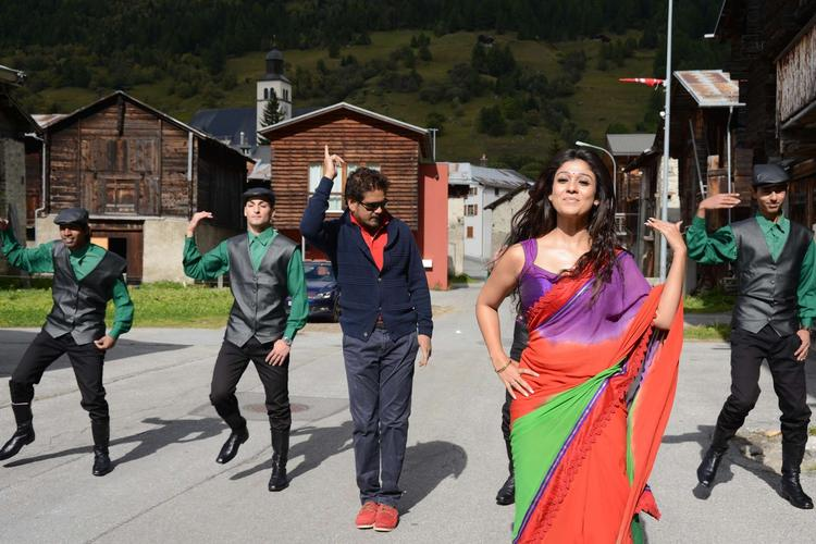 Nagarjuna And Nayantara Nice Expression Photo Still From Movie Greeku Veerudu