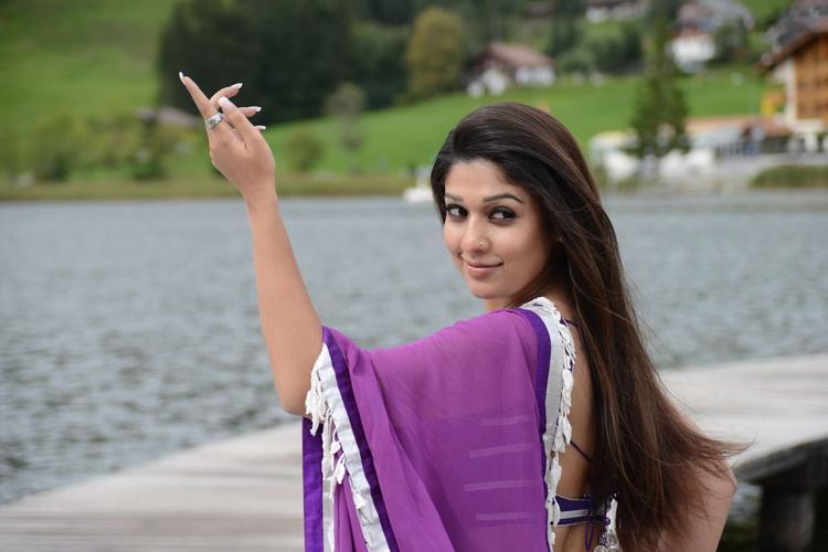 Nayantara Strike A Dance Pose Photo Still From Movie Greeku Veerudu