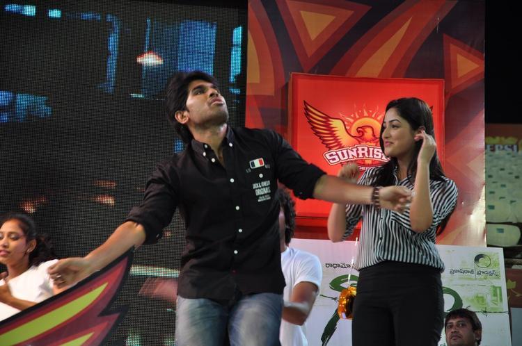 Sirish And Yami Gautam Dancing Photo Still At Gouravam Audio Launch
