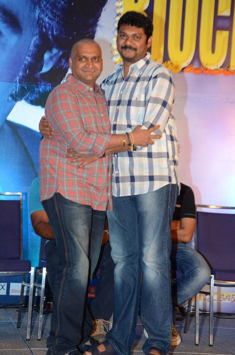 Bandla Ganesh Greets A Friend At Baadshah Movie Success Meet